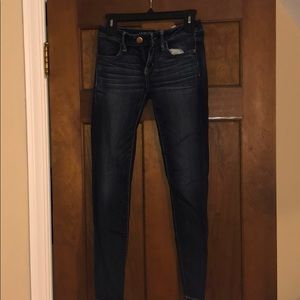 Dark washed American eagle jeans